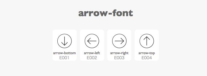 arrowアイコンフォント